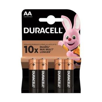 Батерия алкална Duracell, AA, LR6, 1.5V, 4 бр. image