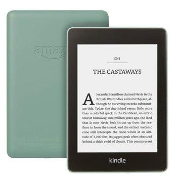 "Електронна книга Amazon Kindle Paperwhite 2018 г.(зелен), 6"" (15.24 cm) сензорен екран, процесор 1Ghz, 256MB RAM, 32GB Flash памет, WiFi 802.11n, Linux, 206g image"