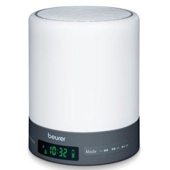 Часовник/Нощна лампа Beurer WL 50 BT 58921, симулира светлината при залез и изгрев, аларма, FM радио, 2 регулируеми времена за аларма, 3 нива на светлина, черна image