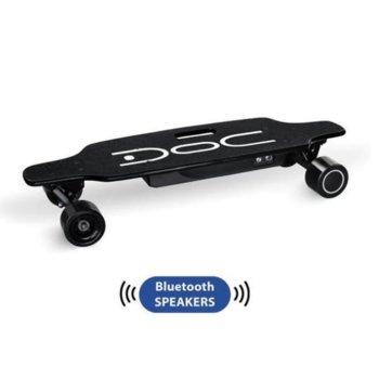 Електрически скейтборд Nilox DOC Skateboard Black Plus, до 12км/ч скорост, 20км макс. пробег, до 100кг, 200W двигател, джойстик за управление, Bluetooth, черен image