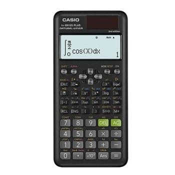 Калкулатор Casio FX-991 ES PLUS, научен, изчисления на уравнения, интеграция/диференциални изчисления, матрични изчисления, векторни изчисления, сложни изчисления на числа, черен image