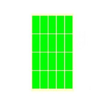 Етикети за цени Fleks-Ko, размер 51x21mm, 200бр, зелени image
