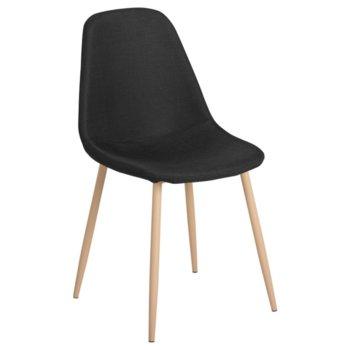 Трапезен стол Carmen 511 S, дамаска, черен image