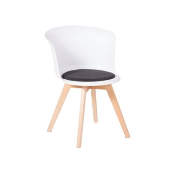 Трапезен стол Carmen 9968, бял image