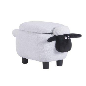 Табуретка Carmen, бяла овца image