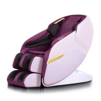 Масажен стол Rexton ZET200 (2020 г.), 3D масаж, инфрачервено затопляне, вграден пулт за управление, вградени тонколони, Bluetooth, лилав image