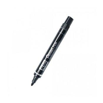 Маркер Pentel N50, черен, от 1.5 до 2.5 mm, перманентен image
