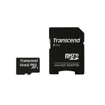 64GB microSDXC Transcend Premium TS64GUSDXC10 product