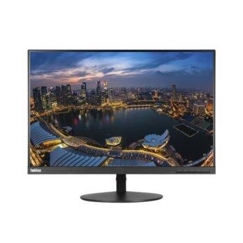 """Монитор Lenovo ThinkVision T24d (61B4MAT1EU), 24"""" (60.96 cm) IPS панел, Full HD, 7ms, 1000:1, 300cd/m2, DisplayPort, HDMI, VGA image"""