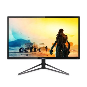 "Монитор Philips 326M6VJRMB, 31.5"" (80.01 cm) MVA панел, Ultra HD, 4ms, 80000000:1, 400 cd/m2, HDMI, DisplayPort image"
