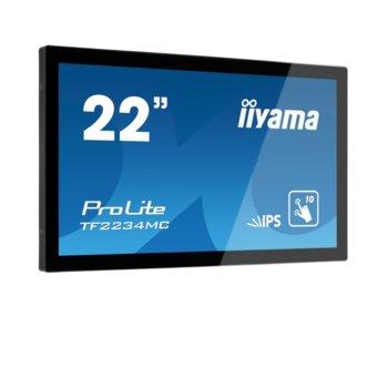 "Публичен дисплей Iiyama TF2234MC-B6X, тъч дисплей, 21.5"" (54.61 cm) Full HD, HDMI, VGA, Display Port image"