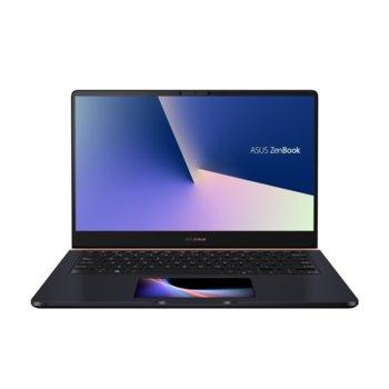 "Лаптоп Asus ZenBook 14 UX480FD-BE032T (90NB0JT1-M03190)(син), четириядрен Whiskey Lake Intel Core i5-8265U 1.6/3.9 GHz, 14.0"" (35.56 cm) Full HD Anti-Glare Display & GF GTX 1050 MAX Q 2GB, (HDMI), 512GB SSD, 1x USB 3.1 Type C, Windows 10 Home image"