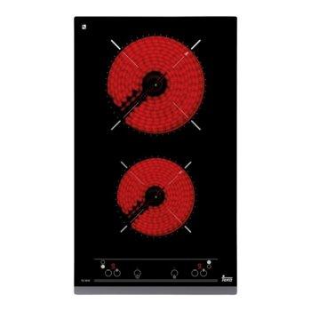 Стъклокерамичен плот за вграждане Teka TZ 3210, 2 нагревателни зони, автоматично изключване за безопастност, независимо програмиране на всяка зона, индикатор за остатъчна топлина, черен image