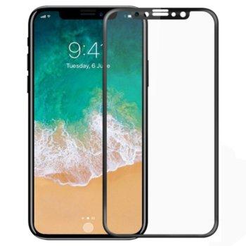 Защитно фолио за Apple iPhone X, 5D, черна рамка image