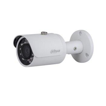 "IP камера Dahua IPC-HFW1420S-0280B, насочена ""bullet"", 4 Mpix(2688x1520@20FPS), 2.8 mm обектив, H.264+/H.264, IR осветеност(до 30 метра), IP67 защита от вода, PoE, RJ-45 image"