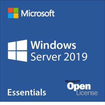 Операционна система Microsoft Windows Server Essentials 2019, 64-bit Английски, 1-2 CPU, 1pk OEI, DVD, OEM image