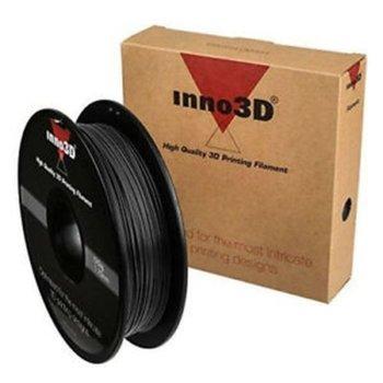 Консуматив за 3D принтер Inno3D, PLA Black, 1.75mm, черен, 500g, пакет от 5 броя image