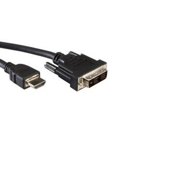 Кабел от DVI(м) към HDMI(м), 5м, черен image