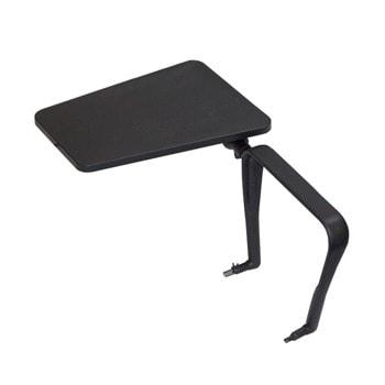 Масичка за посетителски столове, полипропиленова, черна image