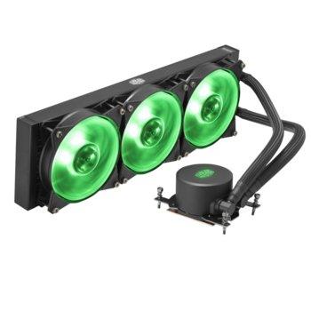 Водно охлаждане за процесор Cooler Master MasterLiquid ML360 RGB TR4 Edition, съвместимост със AMD TR4 image