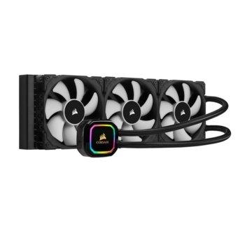 Водно охлаждане за процесор Corsair iCUE H150i RGB PRO XT Liquid CPU Cooler, съвместимост със сокети LGA Intel 1200/1150/1151/1155/1156/1366/2011/2066 & AMD AM4/AM3/AM2/sTRX4/sTR4 image