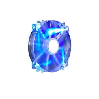 Вентилатор 200mm, CoolerMaster MegaFlow 200 Silent, 3-пинов, 700 RPM, Blue LED image