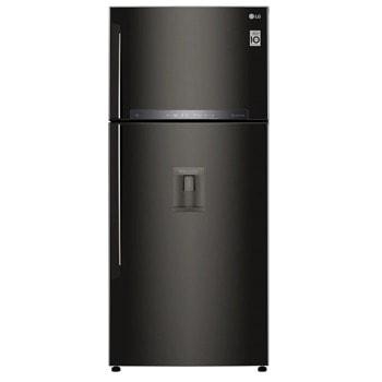 Хладилник с фризер LG GTF744BLPZD, клас Е, 509 л. общ обем, свободностоящ, 309 kWh/годишно, No Frost, Smart Diagnosis, WiFi, Mirror Touch Дисплей, LED осветление, диспенсър за вода, черен image