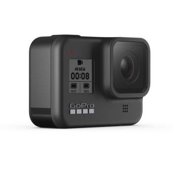 Екшън камера GoPro HERO8 Black, камера за екстремен спорт, 4K@60fps, HyperSmooth 2.0 стабилизация, GPS, водоустойчив, Wi-Fi, Bluetooth, черен image