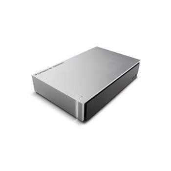"""Твърд диск 4TB LaCie Porsche (сив), външен, 3.5"""", USB 3.0 image"""