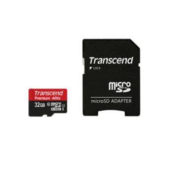 Transcend 32GB micro SDHC UHS-I adapter, Class 10 product