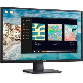 """Монитор Dell E2720H, 27"""" (68.58 cm) IPS панел, Full HD, 5ms, 300 cd/m2, DisplayPort, VGA  image"""