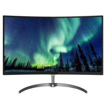 """Монитор Philips 278E8QJAB, 27"""" (68.58 cm), VA LCD , Full HD, 4ms, 20 000 000:1, 250cd/m², DisplayPort, HDMI, VGA image"""