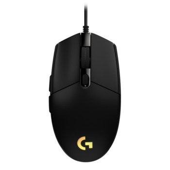 Мишка Logitech G102 LIGHTSYNC, оптична (8000 dpi), USB, гейминг, черна, 6 програмируеми бутона, Lightsync RGB подсветка image