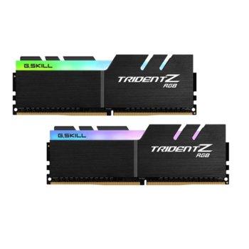 Памет 32GB (2x16GB) DDR4 3600MHz, G.SKILL Trident Z RGB, F4-3600C17D-32GTZR, 1.35V, RGB image