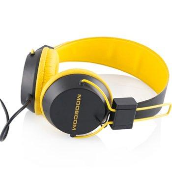 Слушалки с микрофон Modecom MC-400 Circuit (жълти) product