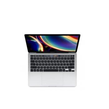 "Лаптоп Apple MacBook Pro 13 Touch Bar (2020) (MWP82ZE/A)(сребрист), четириядрен Intel Core i5 2.0/3.8GHz, 13.3"" (33.78) cm IPS Retina дисплей, (Thunderbolt), 16GB DDR4, 1ТB SSD, 4x Thunderbolt 3, macOS Catalina image"