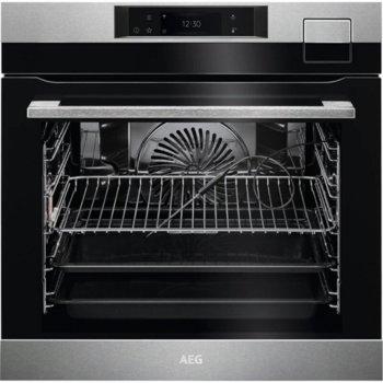Фурна за вграждане AEG BSK798380M, 70 л. обем на фурната, функция Steamify, функция бързо нагряване, термосонда, инокс image