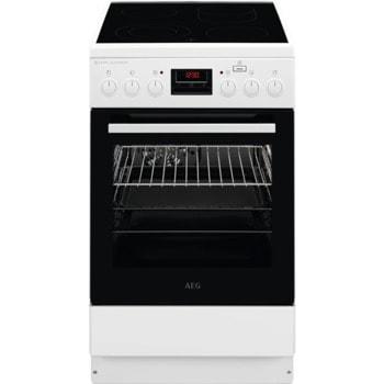 Готварска печка AEG CCB56481BW, клас А, 4 нагревателни зони, 58 л. обем на фурната, 11 функции, пуш-пул въртящи се бутони, бяла  image