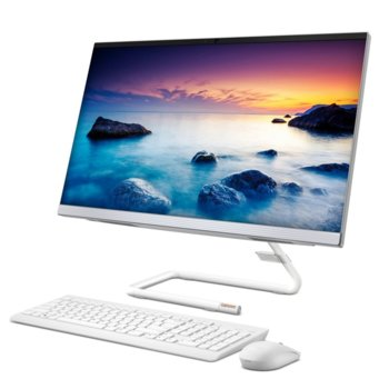 "All In One компютър Lenovo Ideacentre A340-22IGM (F0EA003PBG), четириядрен Gemini Lake Intel Pentium J5005 1.5/2.8 GHz, 21.5"" (54.61 cm) Full HD WVA 250nits Display, 4GB DDR4, 256GB SSD, 2x USB 3.1, клавиатура и мишка, No OS image"