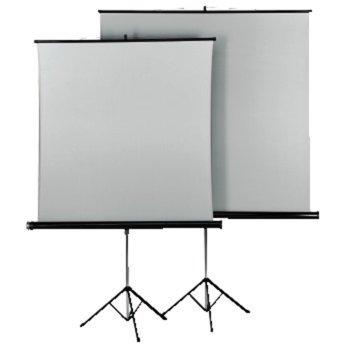 Екран Hama 18792, на стойка, White/Silver, 1250 x 1250 mm, 1:1 image