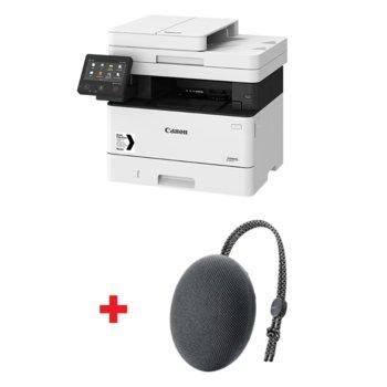 Мултифункционално лазерно устройство Canon i-SENSYS MF443dw в комплект с тонколона Huawei Sound Stone Bluetooth Speaker CM51 (черна), монохромен принтер/копир/скенер, 600 x 600 dpi, 38 стр./мин, USB, LAN, Wi-Fi, A4 image