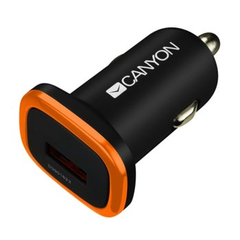 Зарядно Canyon CNE-CCA01B, от автомобилна запалка към USB (ж), 5V, 1A, черно image
