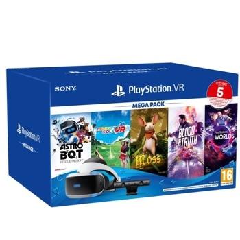 Очила за виртуална реалност PlayStation VR Mega Pack 3 v2, VR хедсет, камера, слушалки, 5 игри image