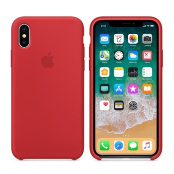 Apple iPhone X Silicone Case - (PRODUCT) RED product
