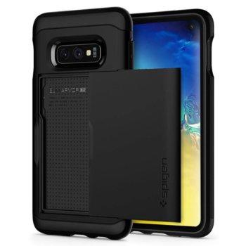 Kалъф за Samsung Galaxy S10Е, хибриден, Spigen Slim Armor 609CS25852, удароустойчив, отделение за карти до 2бр, черен image