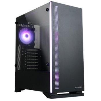 Кутия Zalman S5, ATX/Micro ATX/Mini-ITX, 1x USB 3.0, 2 вентилатора, черна, без захранване image