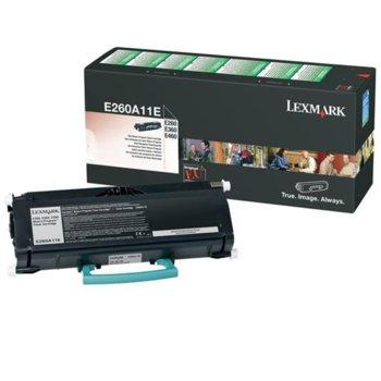КАСЕТА ЗА LEXMARK E260/E360/E460 - Return program cartridge - P№ E260A11E - заб.: 3500k image