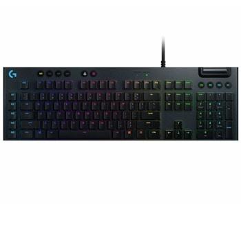 Клавиатура Logitech G815, геймърска, механична, tactile суичове, RGB подсветка, нископрофилни клавиши, US layout, черна, USB image
