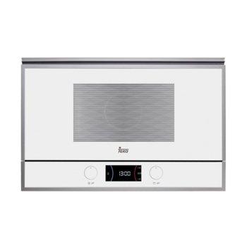 Микровълнова фурна Teka Wish ML 822 BIS L, за вграждане, с грил, електронно управление, 850 W, 22 л. обем, 5 степени на мощност, бяла image