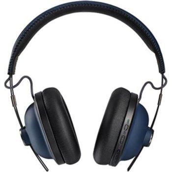 Слушалки Panasonic RP-HTX90NE, безжични, микрофон, Bluetooth, до 24 часа работа, сини image